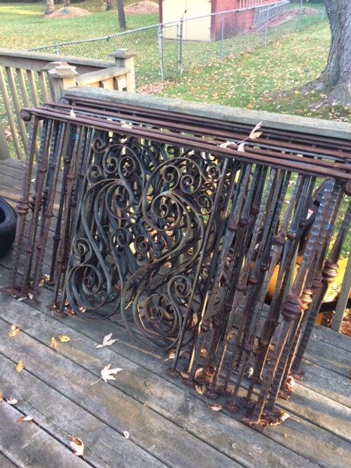 HAND-MADE WROUGHT-IRON RAILINGS