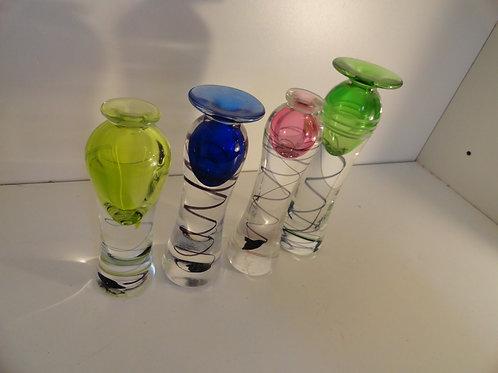 HAND BLOWN ART GLASS GROUPING