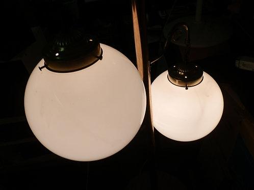 St. Catharines MID-CENTURY FLOOR-TO-CEILING & TABLE GLOBE LAMP