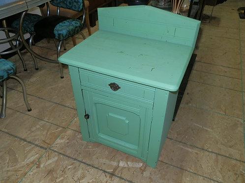 Antique Washstand Side Table Sea-Foam Green
