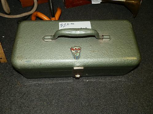 "VINTAGE METAL GREEN FISHING TACKLE BOX  ""MY BUDDY"""