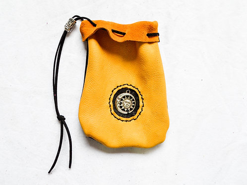 Leather Dice Bag ~ Day & Night