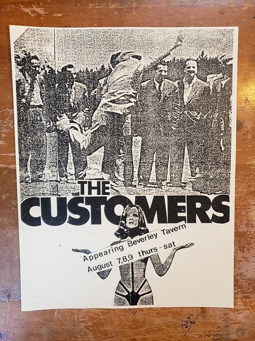 THE BEVERLEY TAVERN TORONTO Vintage 80's CONCERT FLYER