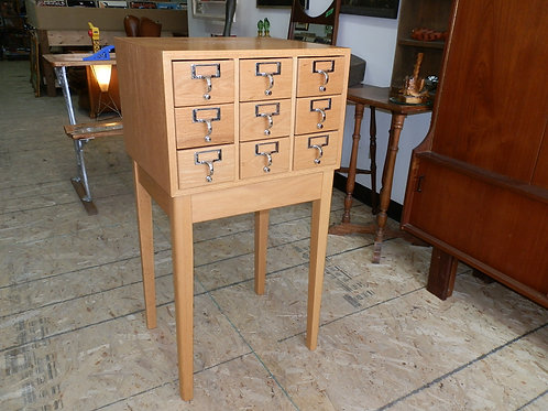 LIBRARY CARD HOLDER CABINET TABLE