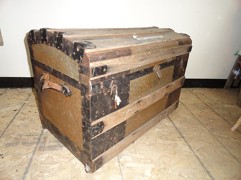 ANTIQUE TRUNK CHEST (STOLEN FROM FRONT OF STORE)