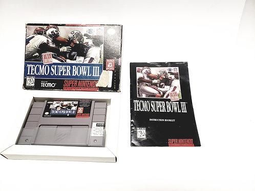 SNES Super Nintendo TECMO SUPER BOWL III