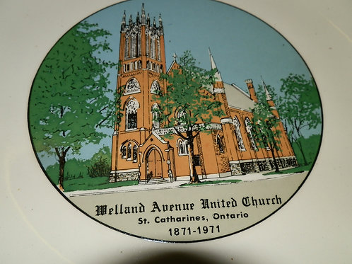 ST. CATHARINES CHURCH PICTURE PLATE - WELLAND AVE. UNITED