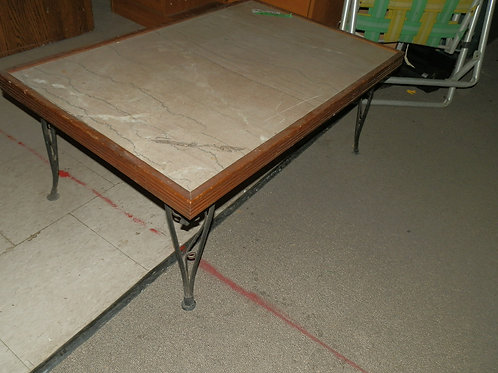 Marble/Granite Top Coffee Table with Cast Iron leg