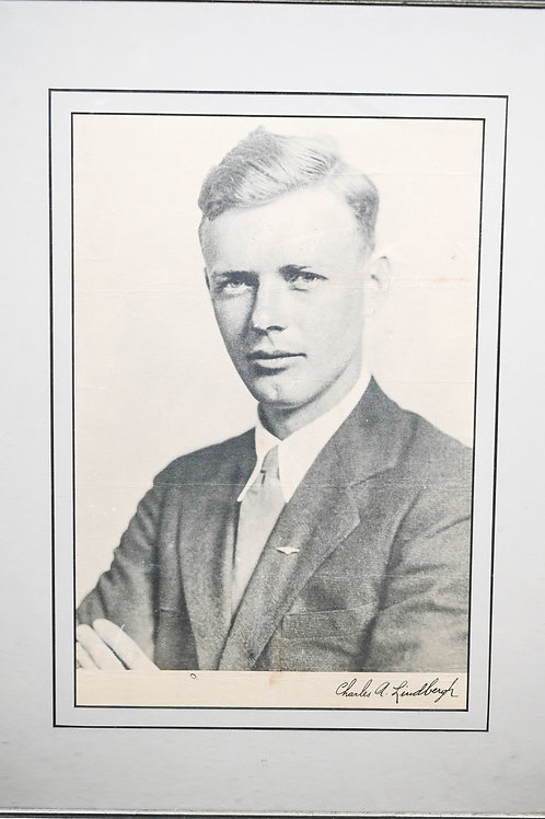 Signed Charles A. Lindbergh Portrait Photo
