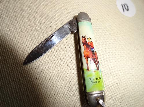 SHEFFIELD ENGLAND RCMP CANADA NOVELTY JACK-KNIFE