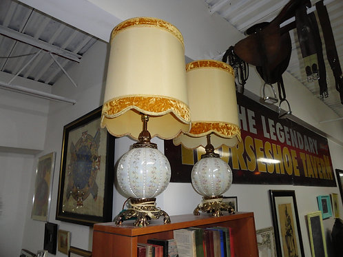 PAIR OF STATEMENT LAMPS