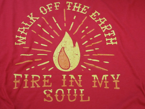 WALK OFF THE EARTH -Fire In My Soul T-SHIRT RED