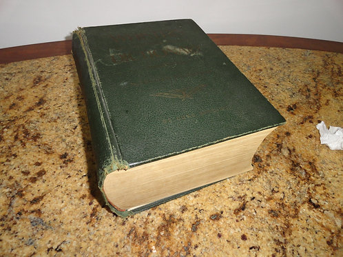 LARGE WEBSTER'S DICTIONARY BOOK 1960's