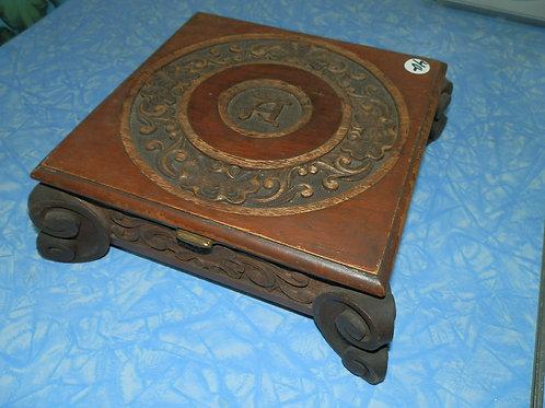 JEWELERY BOX Hand-Carved Dated 1912 Beautiful