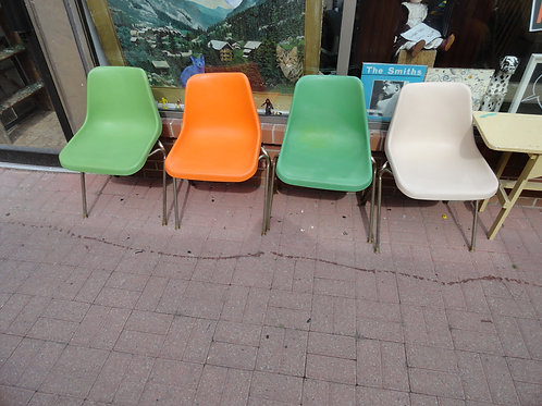 VINTAGE PLASTIC OFFICE CHAIRS