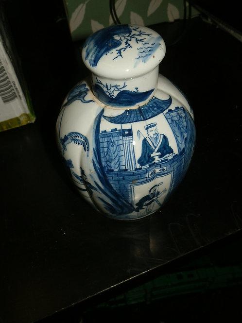 MAN TANG FU JI ANTIQUE CHINESE PORCELAIN JAR