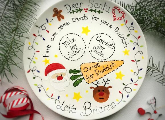 Personalised Christmas  Eve Treat  Plate