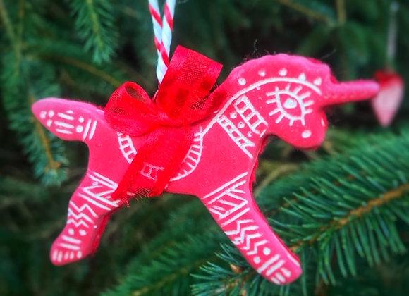 Handmade Ceramic Unicorn Ornament