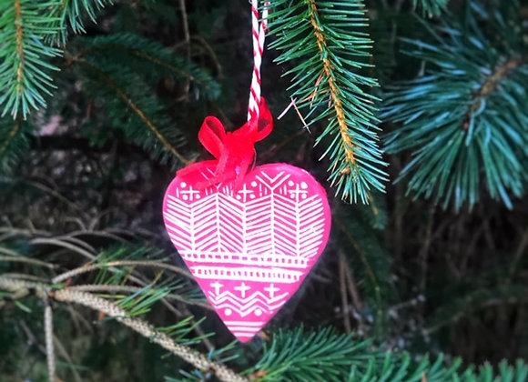Handmade Ceramic Heart Ornament