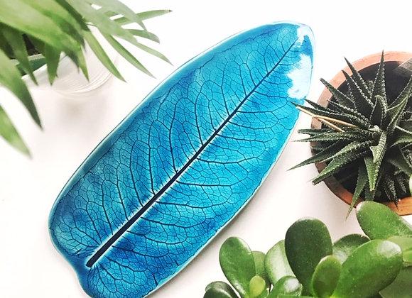 Teal Leaf Platter