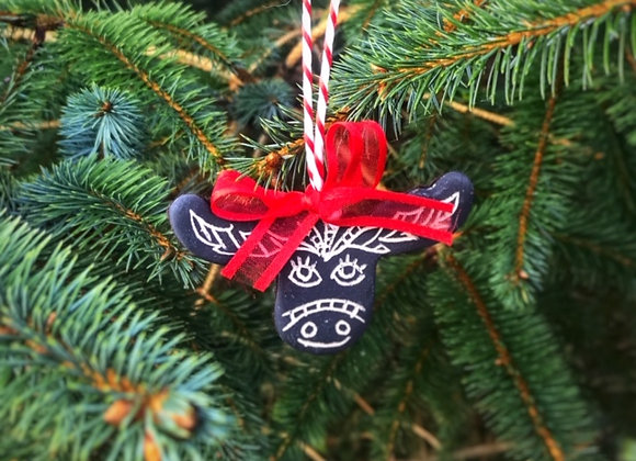 Handmade Ceramic Moose Ornament