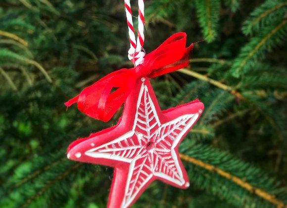 Handmade Ceramic Star Ornaments