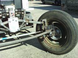 Half track front axle.