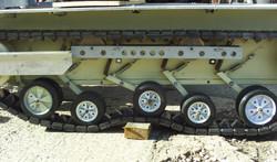 Halftrack track suspension