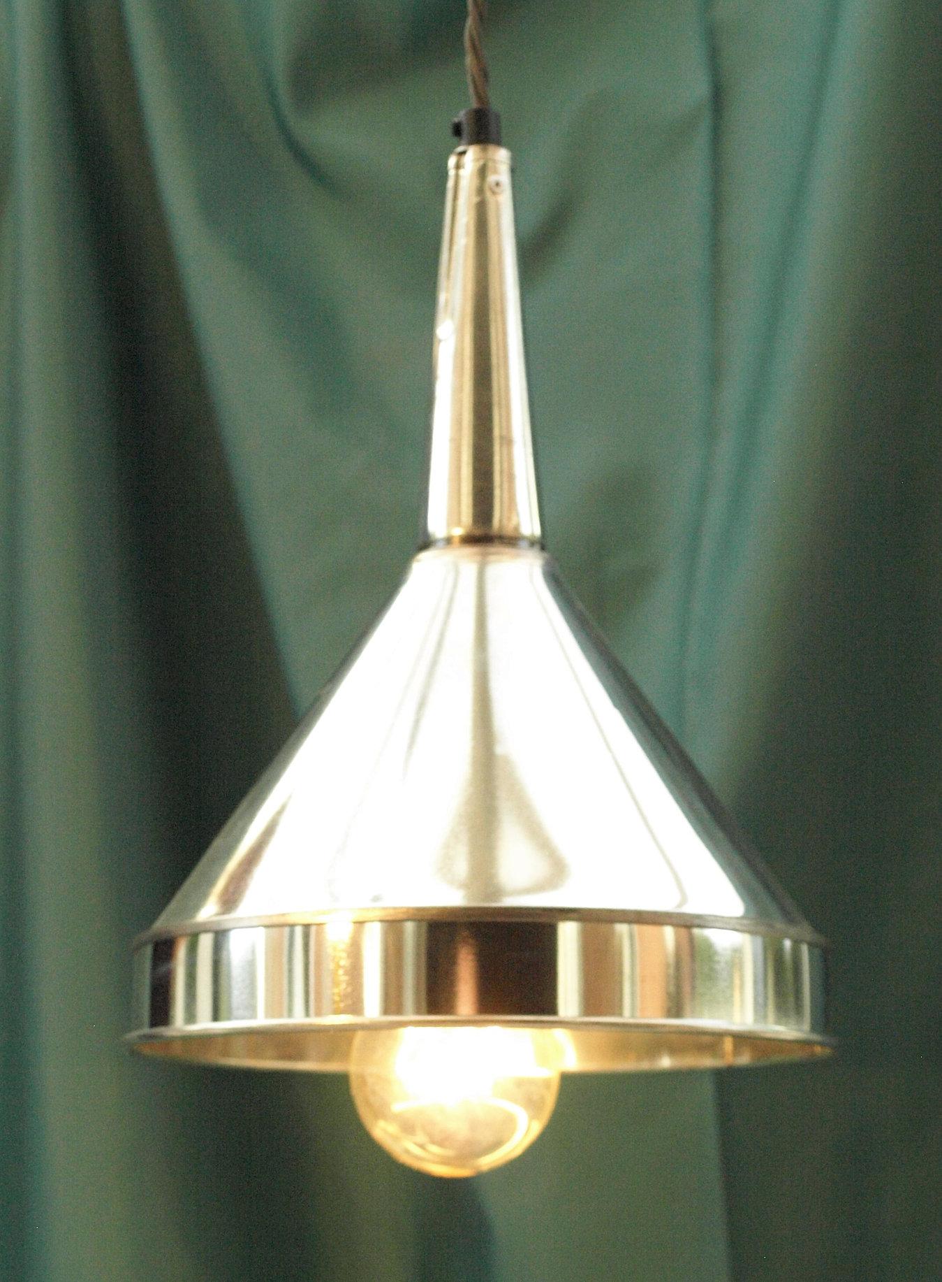 Funnel Light & Stewart Dives Artist Blacksmith Upcycled repurposed lighting. azcodes.com