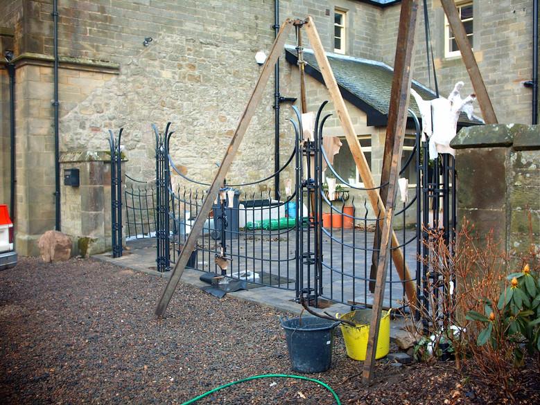 Fitting iron gates