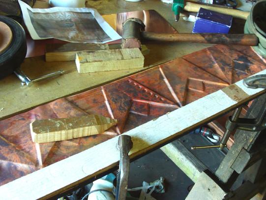 Art Deco copper decoration.