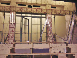 'And Then There Were None' stage set