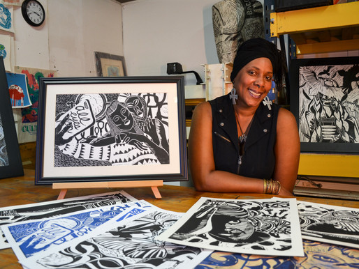 How Printmaker Diyah Najah Gives Through Art & Special Education