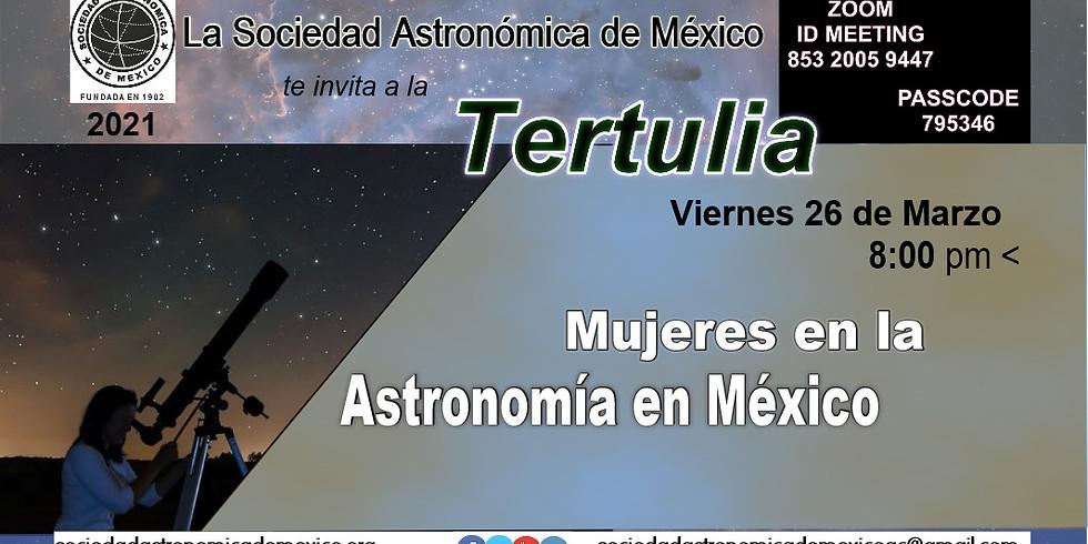 Tertulia. Mujeres en la Astronomía en México.