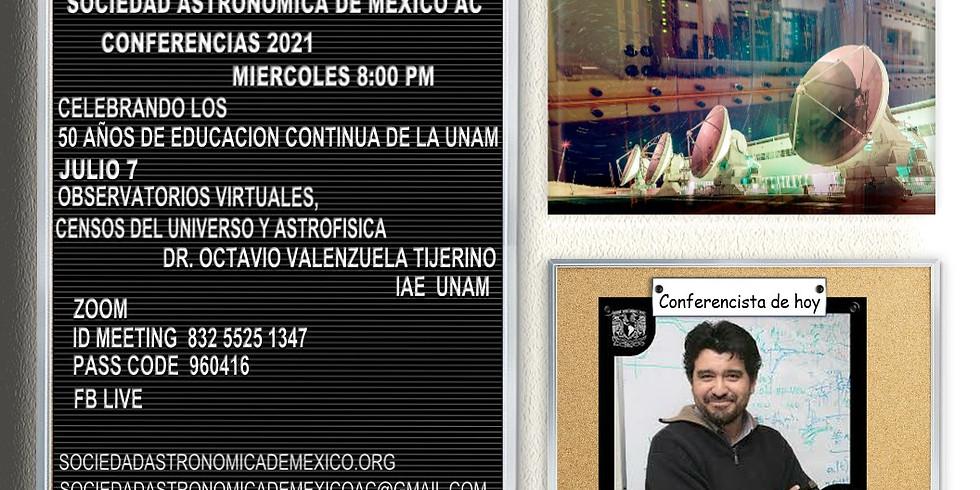 Observaciones virtuales, Censos del Universo y Astrofísica.