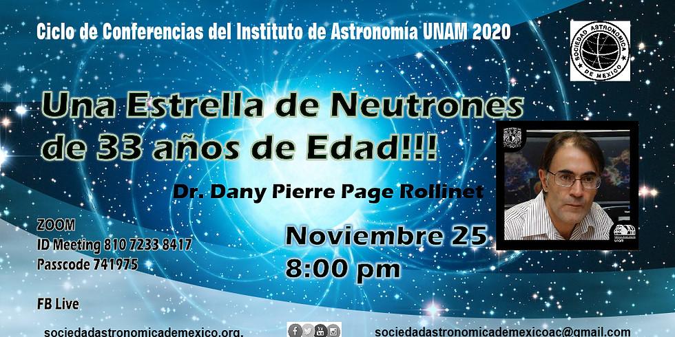 Una estrella de neutrones de 33 años!