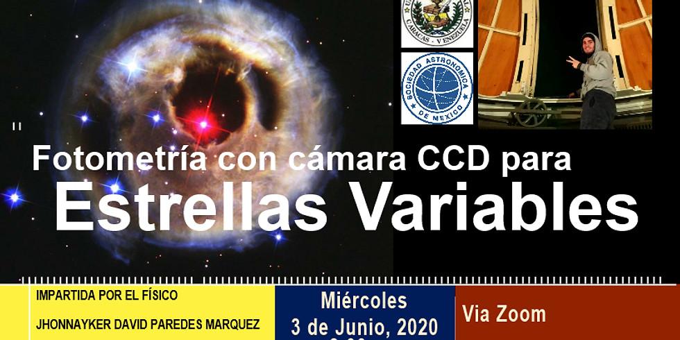 Fotometría con cámara CCD para estrellas variables