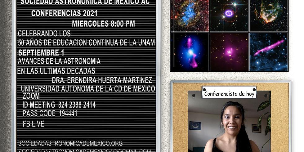 Avances de la Astronomía en las últimas décadas