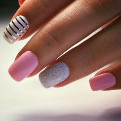 Pastel pinks with bling