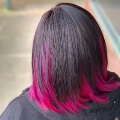 Fashion colour hair