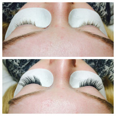 Eyelashe Extenstions - before & after