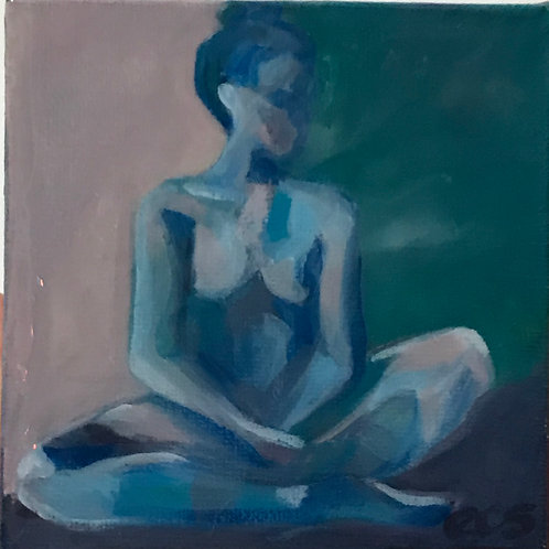 Seated Moody Nude