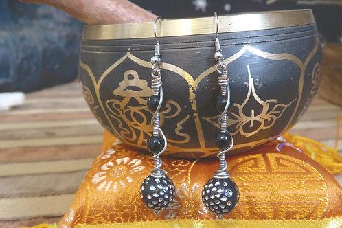Rockstar Wire Wrapped (3) - Earrings : French Hook Dangles