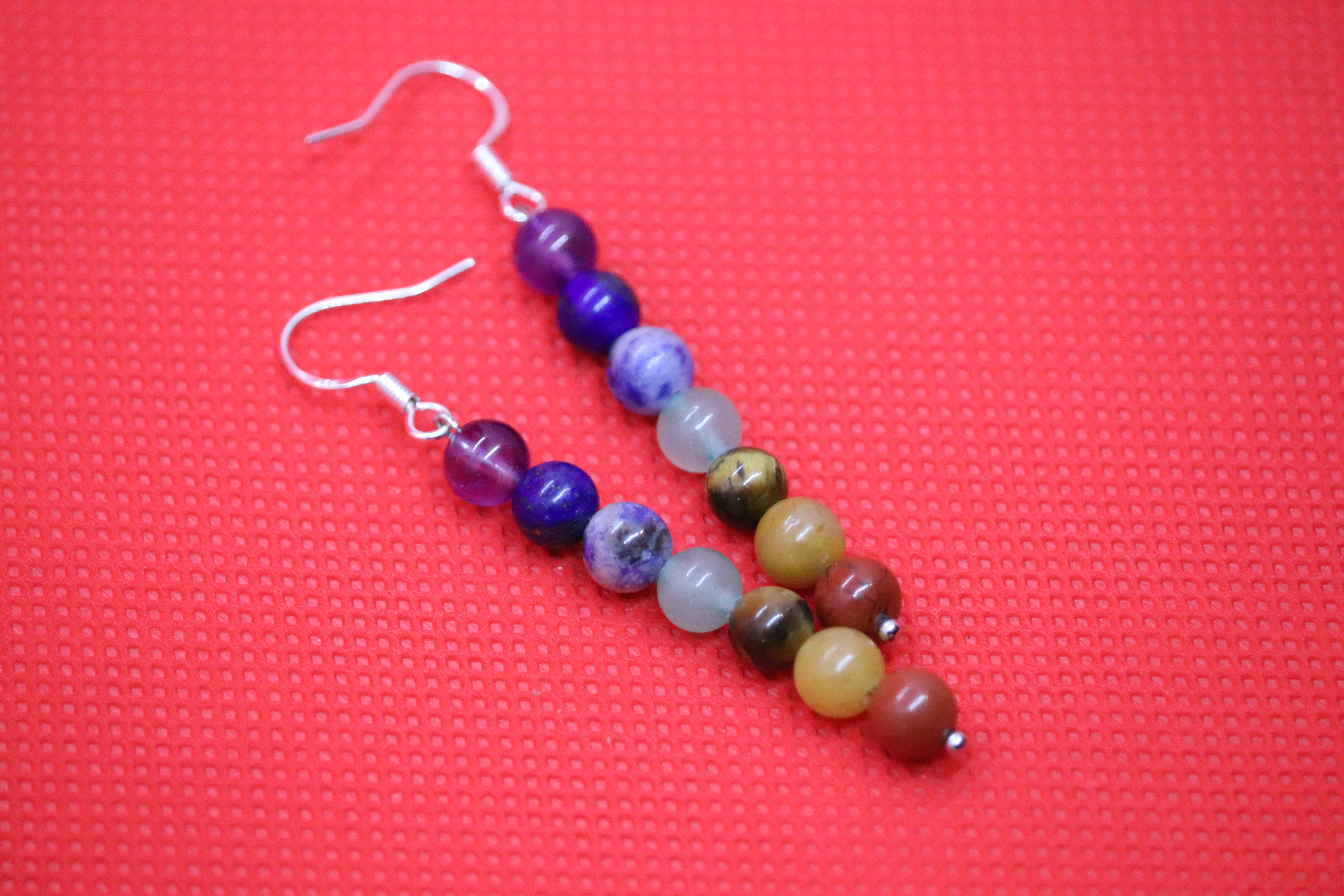 Chakra (7) - Earrings : French Hook Dangles