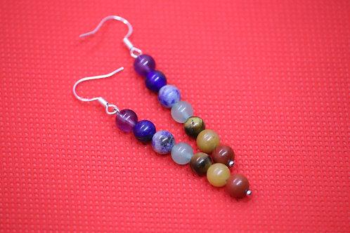 Chakra (7) - Earrings : French Hook Dangles