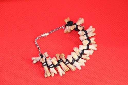 Coyote Toe Bone Wax Cord (17) - Bracelet