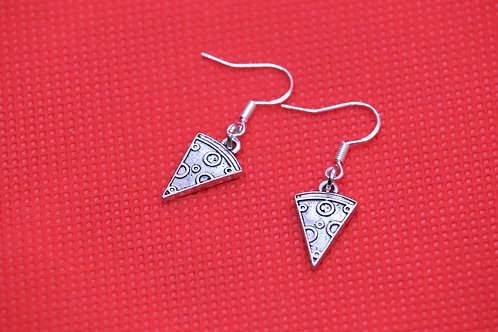 Pizza Slice (1) - Earrings : French Hook Dangles