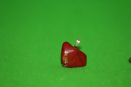 Polished Red Jasper Stone (1) - Pendant