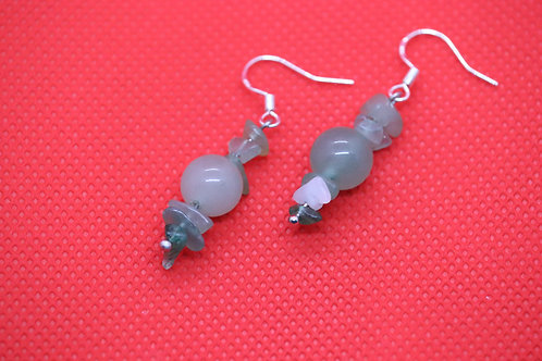 Green Aventurine (7) - Earrings : French Hook Dangles