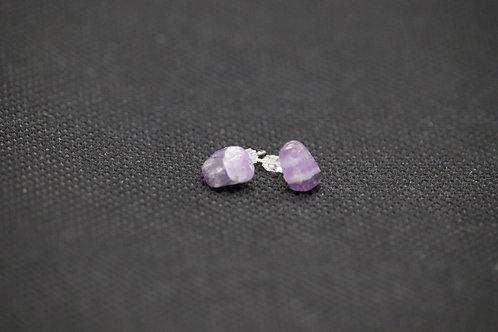 Amethyst (1) - Earrings : Studs